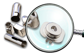 Precision Formed & Nickel Plated Brass Electrical Components